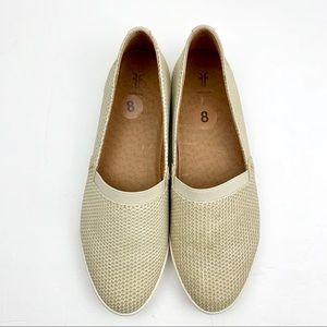 Frye Melanie Perforated Leather Slip on sneakers